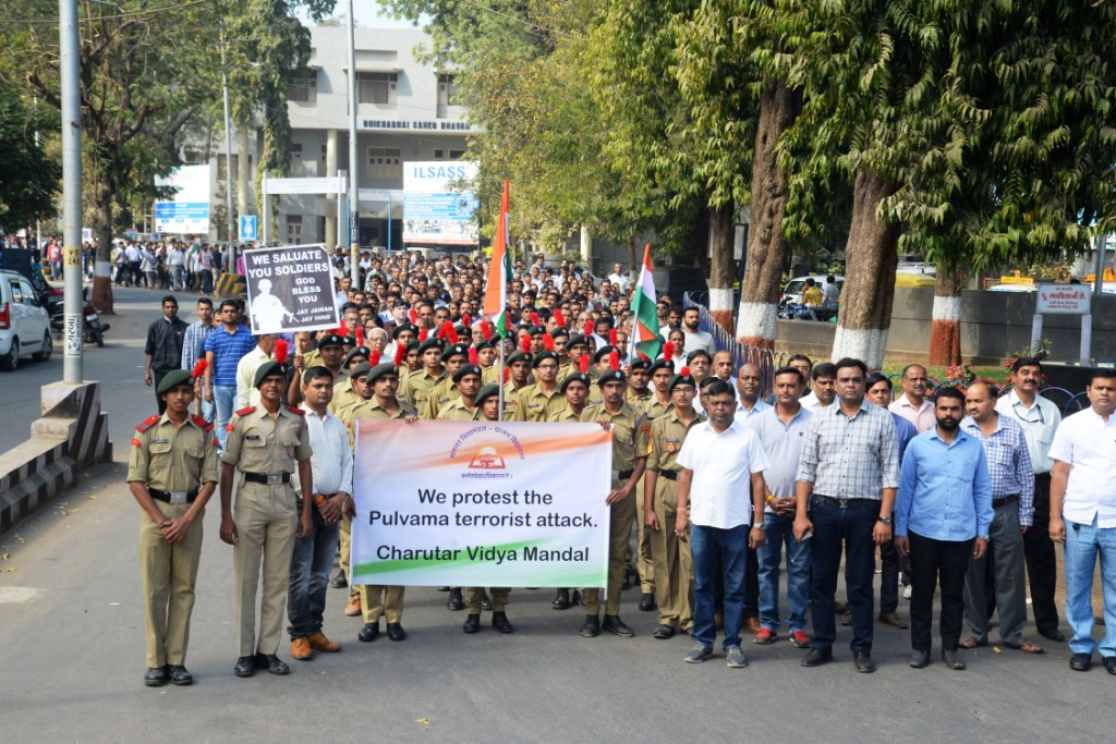 Silent march protest in respect of our brave soldiers on 18th February,2019.
